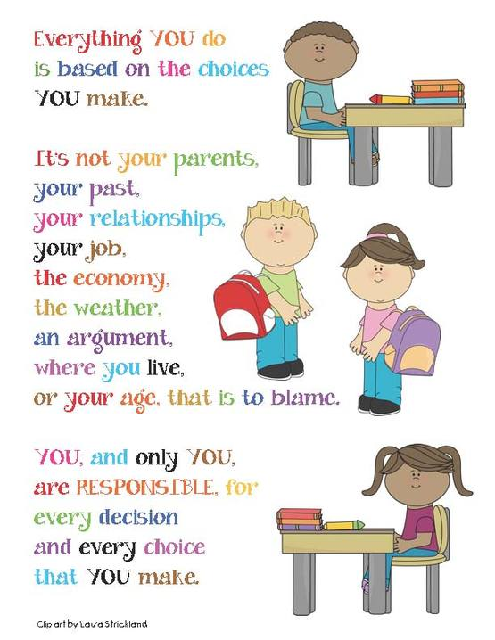 responsibility of student Your responsibilities as a student in order for you to be successful in your studies, it is important that you take responsibility for your learning.