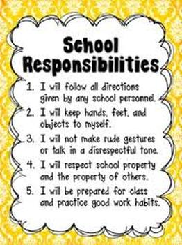 students rights and teachers responsibilities Students will apply the concept of jurisdiction to classroom rules, identify court-recognized student rights and create a list of behaviors in a classroom that might.
